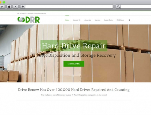 High Tech Web Design – Drive Renew