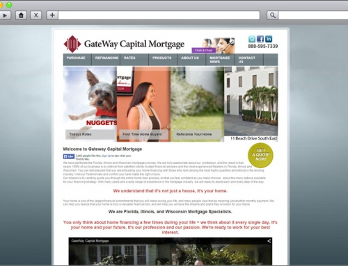 Mortgage Company Web Re Design – Gateway Capital Mortgage
